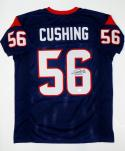 Brian Cushing Autographed Blue Pro Style Jersey- JSA Witnessed Authenticated