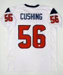 Brian Cushing Autographed White Pro Style Jersey- JSA Witnessed Authenticated