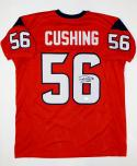 Brian Cushing Autographed Red Pro Style Jersey- JSA W Authenticated