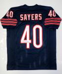 Gale Sayers Autographed Blue Pro Style Jersey- JSA Witnessed Authenticated