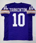 Fran Tarkenton Autographed Purple Pro Style Jersey W/ HOF and JSA Authenticated