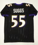 Terrell Suggs Autographed Black Pro Style Jersey- JSA Witnessed Authenticated