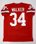 Herschel Walker Autographed Red College Style Jersey W/ Heisman- JSA W Authenticated