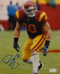 Brian Cushing Autographed *Blue 8x10 USC Trojans Vertical Photo- JSA W Auth