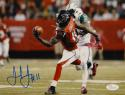 Julio Jones Signed *Blue Falcons 8x10 Catch Against Jets Photo- JSA W Auth