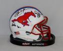 Dickerson James McIlhenny Autographed SMU Mustangs Mini Helmet- JSA W Auth