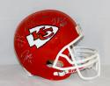 Maclin Kelce Smith Charles Autographed Full Size Kansas City Chiefs Helmet - JSA W Auth