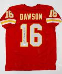 Len Dawson Autographed Red Pro Style Jersey With HOF- JSA W Authenticated