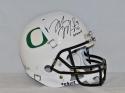 Marcus Mariota Heisman Autographed F/S Oregon Ducks White Helmet- JSA W Auth