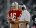 Joe Montana Autographed 49ers 16x20 Standing With Walsh Photo- JSA W Auth