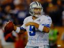 Tony Romo Autographed 16x20 About To Pass Photo- JSA W Authenticated