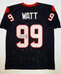 JJ Watt Autographed Blue Pro Style Jersey- JSA W Authenticated