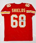 Will Shields Autographed Red Pro Style Jersey W/ HOF- JSA W Authenticated