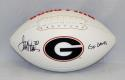 Terrell Davis Autographed Georgia Logo Football W/ Go Dawgs- JSA W Auth