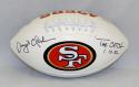 Dwight Clark Autographed 49ers Logo Football With