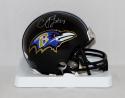 C. J. Mosley Autographed *Silver Baltimore Ravens Mini Helmet- JSA W Authenticated