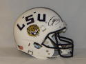 Odell Beckham Autographed LSU Tigers White Full Size Helmet- JSA W Auth