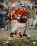 John Elway Autographed Denver Broncos 16x20 Snow Photo- JSA W Authenticated