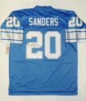 Barry Sanders Autographed NFL Vintage Blue Pro Style Jersey- JSA W Auth