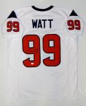 JJ Watt Autographed White Pro Style Jersey- JSA W Authenticated