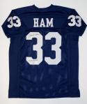 Jack Ham Autographed Blue College Style Jersey W/ Linebacker U- JSA W Auth