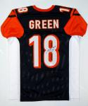 A.J. Green Autographed Black Pro Style Jersey- JSA W Authenticated
