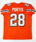 Clinton Portis Signed Orange College Style Jersey W/ Natl Champs- JSA W Auth