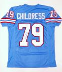 Ray Childress Autographed Blue Pro Style Jersey- JSA W Authenticated
