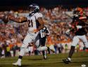 Aqib Talib Autographed Broncos 16x20 Running Against Browns Photo- JSA W Auth