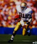 Tim Brown Autographed Notre Dame 16x20 Running Photo W/ Heisman- JSA W Auth