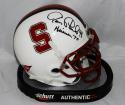 Jim Plunkett Autographed Stanford Cardinals Mini Helmet W/ Heisman- JSA W Auth