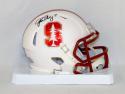 John Elway Autographed Stanford Cardinals Speed Mini Helmet- JSA W Auth