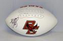 Luke Kuechly Autographed Boston College Eagles Logo Football- JSA W Auth