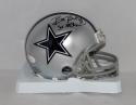 Bill Bates Autographed Dallas Cowboys Mini Helmet W/ SB Champs- JSA W Auth