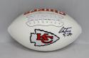 Christian Okoye Autographed Kansas City Chiefs Logo Football- JSA W Authenticated