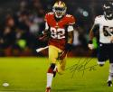 Mario Manningham Autographed 49ers 16x20 Horizontal Running Photo- JSA Auth