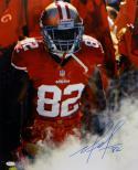 Mario Manningham Autographed San Francisco 49ers 16x20 Smoke Photo- JSA Auth