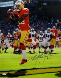 Mario Manningham Autographed 49ers 16x20 Catch Against Bills Photo- JSA Auth