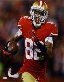 Mario Manningham Autographed 49ers 16x20 Vertical Close Up Photo- JSA Auth