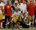Mario Manningham Autographed 49ers 16x20 Avoiding Tackle Photo- JSA Auth