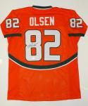 Greg Olsen Autographed Orange College Style Jersey- JSA W Authenticated