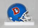 John Elway Autographed Denver Broncos TB Blue Mini Helmet - JSA W Auth