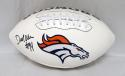 DeMarcus Ware Autographed Denver Broncos Logo Football- JSA W Authenticated