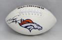Neil Smith Autographed Denver Broncos Logo Football- JSA W Authenticated