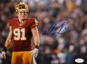 Ryan Kerrigan Autographed Redskins 8x10 Helmet Off Photo- JSA W Auth
