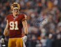 Ryan Kerrigan Autographed *Blue Redskins 16x20 Helmet Off Photo- JSA W Auth