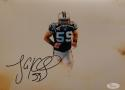 Luke Kuechly Autographed Carolina Panthers 8x10 In Smoke Photo- JSA W Auth