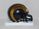 Isaac Bruce Autographed St. Louis Rams Mini Helmet- JSA Authenticated