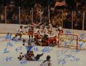 1980 Miracle On Ice Team USA Autographed 16x20 Photo W/ 18 Signatures- JSA W Auth