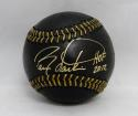 Barry Larkin Autographed Rawlings OML Black Baseball W/ HOF- JSA Witnessed Auth
